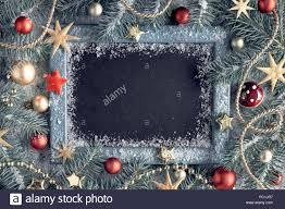 Blank Christmas Background Green And Golden Christmas Background With Blank Blackboard