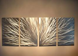 modern abstract contempory wall art incredible designing rectangle shape silver painting radiance hanging