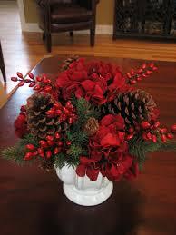 Pine Cone Wedding Table Decorations Christmas Arrangements Beauty Christmas Rose Flower Arrangements