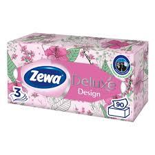 <b>Салфетки косметические ZEWA DELUX</b> DESIGN, 3-слойные, 90 ...