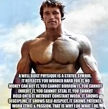 Arnold Schwarzenegger Quotes New A Well Built Physique Is A Status Symbol Arnold Schwarzenegger
