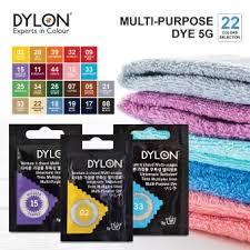 Dylon Dye Colour Chart Dylon Multi Purpose Fabric Dye 5g 22 Color Selection