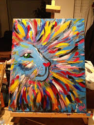 My Big Girly Lion: DIY canvas painting