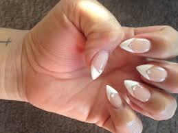 French Tip Stiletto Nail Designs Stiletto French Tip White Stiletto Nails Nail Designs Nails