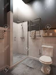modern style office. Bathroom Modern Style. Compromising With Wood And Concrete,perfectly For A Office Or House Style