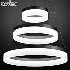 designer led lighting.  Designer Modern Acrylic LED Chandelier Light FixtureDesigner Large Pendant Lamp  Black Ring Lighting For Hotel Project Living Room In Lights From  Intended Designer Led B