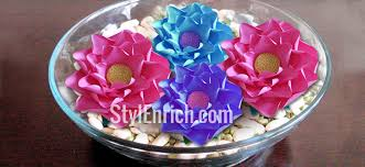 How To Make A Lotus Flower Out Of Paper Diy Crafts How To Make Paper Lotus Flower For Home Decoration