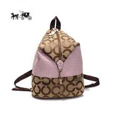 Coach Backpacks in Monogram Medium Pink Outlet Sale VIP Shop