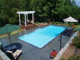 inground pool patio ideas waterfall swimming pool design