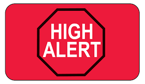 Image result for High alert