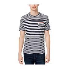 Ben Sherman Mens Engineered Stripe Basic T Shirt Darknavy L