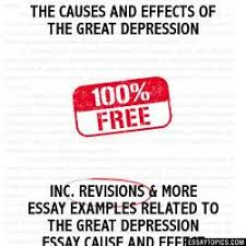 essay on the great depression  essay on the great depression