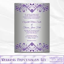 Wedding Invitations Templates Purple Wedding Invitation Template Purple And Silver Wedding Invitations