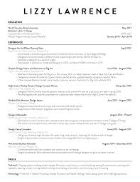 Resume — Lizzy Lawrence
