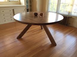 round white oak table client brought me this design was a tricky one i liked it so much i made another to bring to alameda