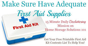 Free Printable First Aid Chart First Aid Kit Contents List What You Really Need