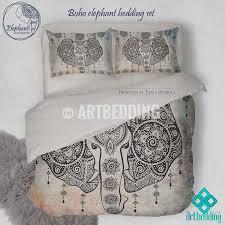 stylish elephant bedding bohemian duvet cover set in ganesh vintage art bedding sets remodel