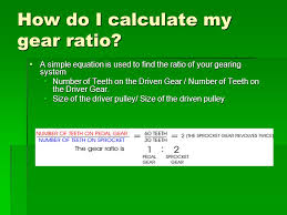 how do i calculate my gear ratio