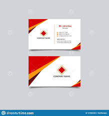 Simple And Modern Business Card Template Design Stock Vector