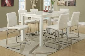 modern high kitchen table.  Table White Counter Height Dining Sets  7pc Modern High Gloss White Counter  Height Dining Table Set To Kitchen E