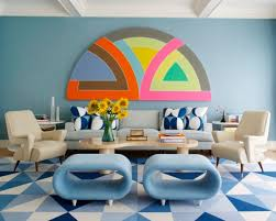 view in gallery eclectic living geometric decor room i82 room