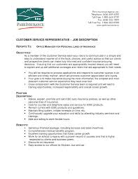 How To Describe Job Duties On Resume Customer Service Representative Job Description Resumefree Ceoll New 21