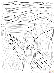 the scream coloring sheet. Modren Scream Click The The Scream By Edvard Munch Coloring Pages  For Coloring Sheet