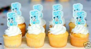 559 Mickey Mouse Spotted First 1st Birthday Cake Or Cupcake
