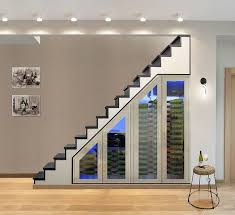 stairs furniture. source handmade custom wine cabinet for the modern la home stairs furniture