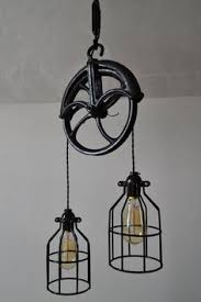 industrial lighting for the home. Re-purposed Barn Pulley Industrial Light Industrial Lighting For The Home I