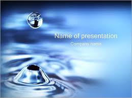 Water Drops Template Water Drop Powerpoint Template Backgrounds Google Slides Id