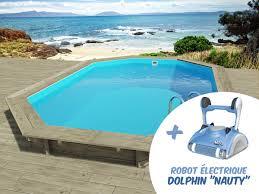 Piscine Bois Florida 6 57 X 4 57 X 1 31 M Robot Dolphin