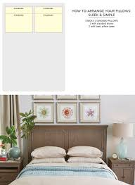 simplest suggestion for arranging your pillows