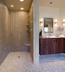modern door less shower design