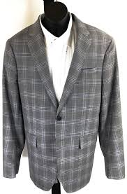 Todd Snyder Size Chart Todd Snyder Gray 100 Wool Plaid Sport Coat Us 36s Ebay