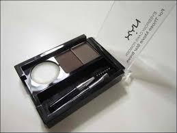 nyx makeup eyebrows. eyebrow cake powder - dark brown/brown nyx makeup eyebrows w