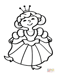 Ideas Of Princess Coloring Pages Simple Generic Princess Coloring