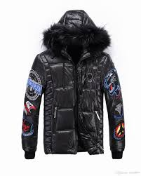 whole and retail 2018 men s down new winter coats fur collar hooded fashion hot brand men s black down jacket size xl down jackets for women