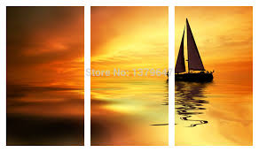 paintings oil painting 4 pcs hot stone sea view wall art picture home decoration living room canvas print painting printing on in painting calligraphy