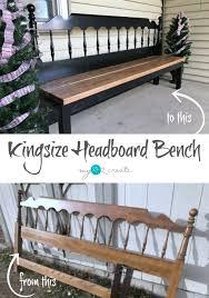 how to make a kingsize headboard bench full picture tutorial at mylove2create diy furniture repurposediy