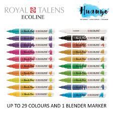 Royal Talens Ecoline Liquid Watercolour Brush Pen 30 Colours Set 2 2