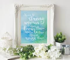 inspirational wall art for office. Here\\\u0027s To Strong Women Inspirational Wall Art For Office