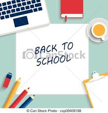 Back To School Background Vector Illustration Template For Your