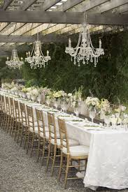 chandelier wedding decor inspirational stunning outdoor wedding reception mimosa flower studio photograph
