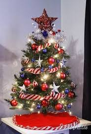 Red, white and blue Christmas! Did a lot of red/white/blue Christmas  decorating when son was deployed to Iraq