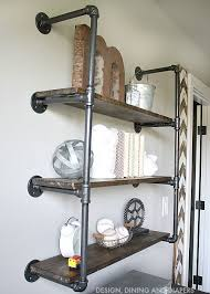 diy industrial piping shelves get the farmhouse look steel pipe shelving