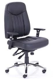 Barcelona Black Leather Ergonomic Office Chair