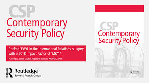 First Ssci Impact Factor Contemporary Security Policy