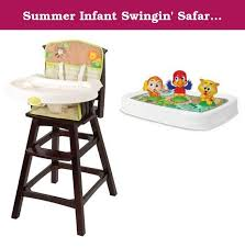 summer infant swingin safari classic comfort wood high chair with bonus magic tray the