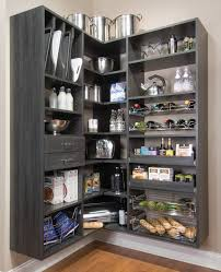 Tiered Shelves For Cabinets Fascinating Walk In Pantry Shelving Designs Featuring White